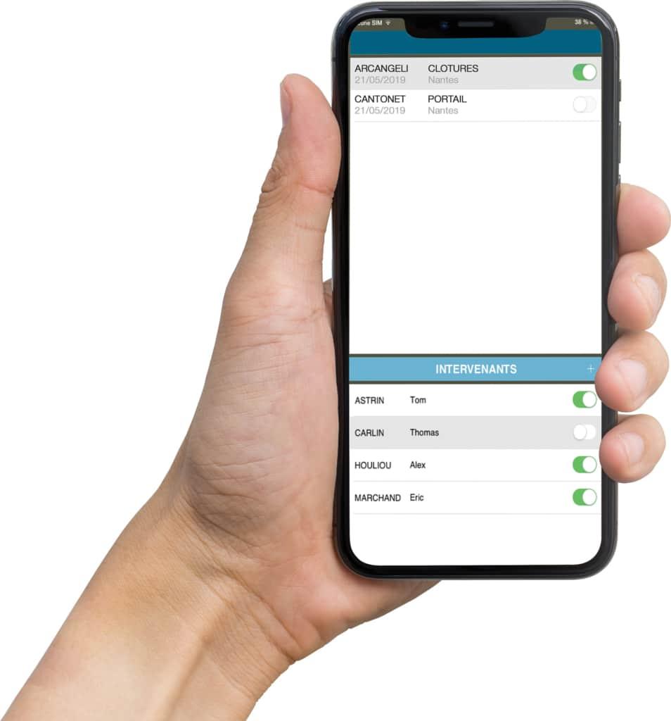 Logiciel sur smartphone pour gestion de projet BTP